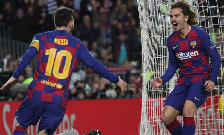 Messi và Griezmann phải thận trọng khi đã nhận 2 thẻ vàng tại Champions League