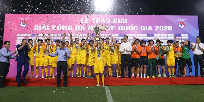 TP.HCM vô địch Cúp Quốc gia nữ 2020 - Ảnh: Đạt Nguyễn