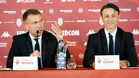 Niko Kovac (phải) đang đặt tham vọng rất cao khi nhận nhiệm vụ tại Monaco