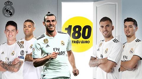 Dàn sao trị giá 180 triệu euro sắp bị Real thanh lý có Bale và ai khác?