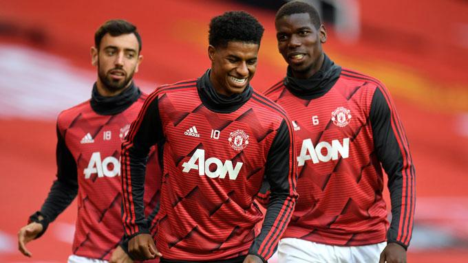 Nhiều ngôi sao của M.U như Fernandes, Rashford hay Pogba xứng đáng được thi triển tài nghệ tại Champions League