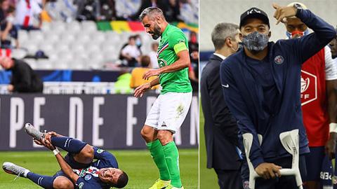 Mbappe chấn thương, nguy cơ nghỉ Champions League