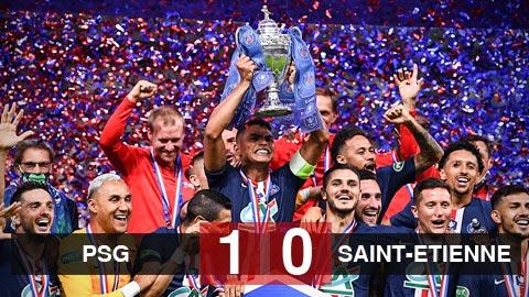 """PSG 1-0 St Etienne: Neymar tỏa sáng, PSG vô địch cúp quốc gia Pháp, nuôi hi vọng """"ăn 4"""""""