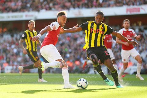 Aubameyang và các đồng đội sẽ không khó chọc thủng lưới Watford