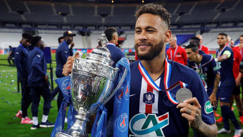 Neymar mang chiếc cúp thứ 13 về cho PSG