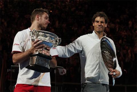 Wawrinka hạ Nadal sau bốn set ở chung kết Australian Open 2014