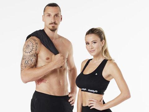 Ibrahimovic và Diletta Leotta cùng quảng cáo cho một phần mềm có tên gọi là Buddyfit