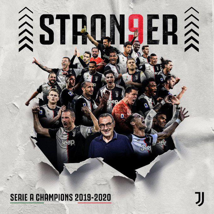 Juventus có chức vô địch thứ 9 liên tiếp