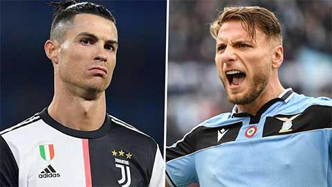 Đá hỏng phạt đền, Ronaldo để Immobile bỏ xa trong cuộc đua Vua phá lưới Serie A