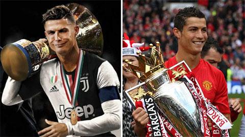 Ronaldo là người duy nhất vô địch Serie A, La Liga và Ngoại hạng Anh là... sai