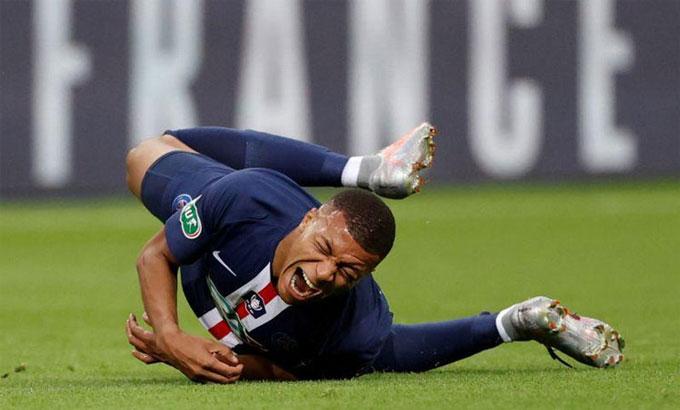 Mbappe sẽ không thể dự vòng tứ kết Champions League với PSG vì chấn thương