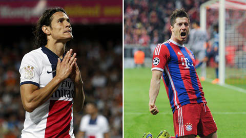 Bayern muốn 'súng 2 nòng' Cavani - Lewandowski, cả châu Âu run sợ