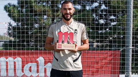 Benzema ẵm giải thưởng Mahou Cinco Estrellas
