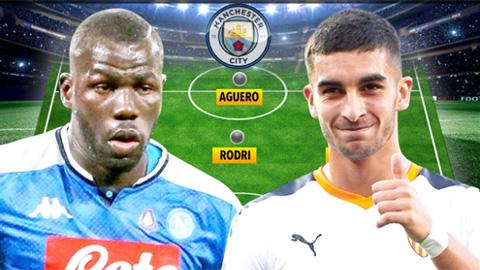 Đội hình Man City cực 'khủng' nếu có thêm Ferran Torres và Kalidou Koulibaly