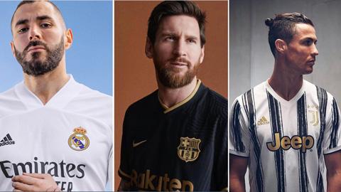 Juventus, Real và Barca đồng loạt tung mẫu áo mùa mới cực chất