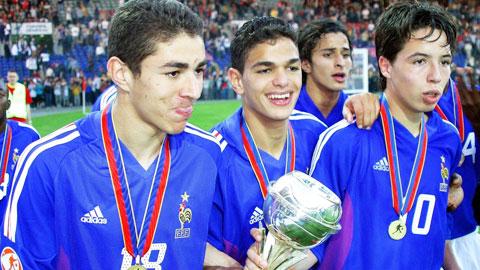 Benzema, Ben Arfa và Nasri khi cùng U17 Pháp lên ngôi ở VCK U17 châu Âu 2004