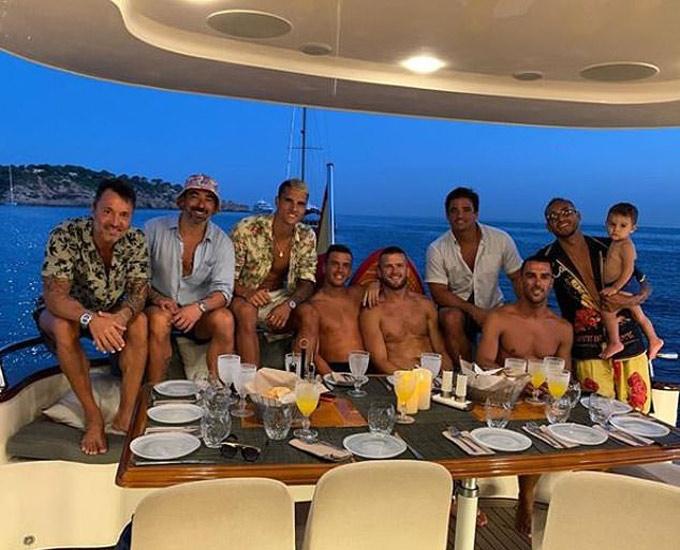 Những cầu thủ Tottenham, Erik Lamela, Giovani Lo Celso và Eric Dier đi nghỉ ở Ibiza