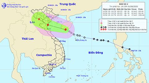 Dự báo thời tiết hôm nay 2/8: Bão số 2 gây mưa lớn ở Bắc Trung Bộ (đăng 5h sáng 2/8)