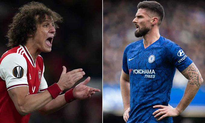Luiz và Giroud sẽ phải hạ gục nhau trong trận cầu sinh tử tại FA Cup 2019/20
