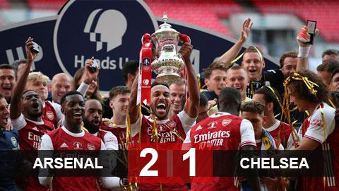 Kết quả Arsenal 2-1 Chelsea: Pháo thủ ngược dòng giành chức vô địch FA Cup