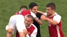 HLV Arteta sướng điên khi lần đầu giành FA Cup với Arsenal