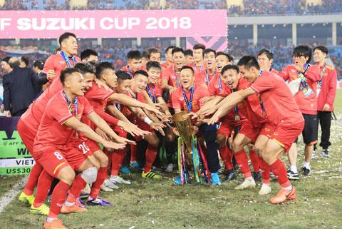 ĐT Việt Nam hiện là ĐKVĐ AFF Suzuki Cup sau lần đăng quang vào năm 2018 - Ảnh: ĐỨC CƯỜNG