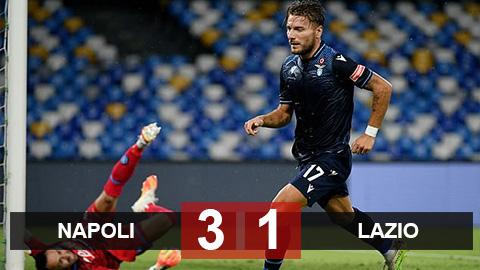 Kết quả Napoli 3-1 Lazio: Đội nhà thất trận, Immobile vẫn đi vào lịch sử Serie A