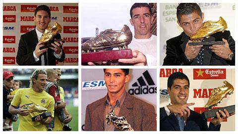 Những ngôi sao nổi tiếng từng giành Chiếc giày Vàng