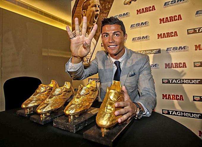 Lần thứ tư của Cristiano Ronaldo đến vào mùa 2014/15 sau khi ghi 48 bàn cho Real Madrid.