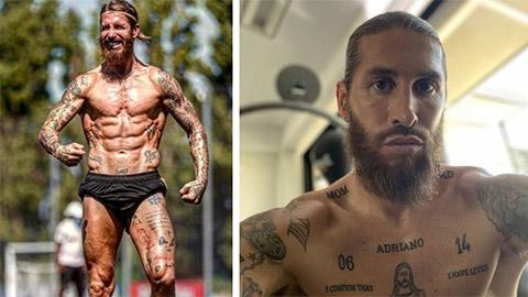 Ramos ''hóa thân'' thành Ronaldo với màn khoe cơ bắp