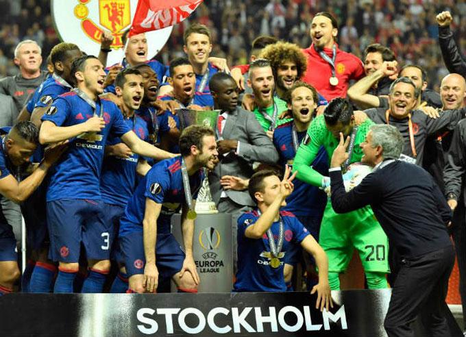M.U từng vô địch Europa League năm 2017