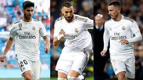 Tam tấu Hazard - Benzema - Asensio sẽ là bài tẩy của Real trước Man City