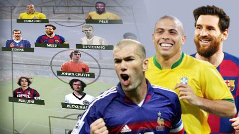 Đội hình xuất sắc nhất mọi thời đại: Có Messi, Ronaldo dự bị