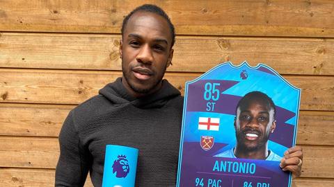 Antonio khiến Fernandes vuột hat-trick nhất tháng ở Ngoại hạng Anh