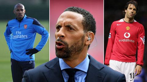 Cựu trung vệ Rio Ferdinnand: 'Van Nistelrooy thường cay cú khi kém Henry'