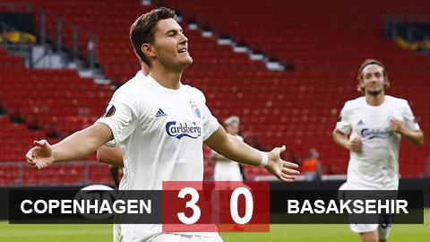 Copenhagen 3-0 Istanbul Basaksehir (Tổng tỷ số 3-1): Vượt qua Istanbul Basaksehir, Copenhagen hẹn M.U ở tứ kết