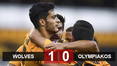 Kết quả Wolves 1-0 Olympiacos: Raul Jimenez lập công, Wolves nhọc nhằn vào tứ kết Europa League