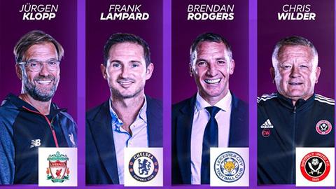 Lampard cạnh tranh danh hiệu HLV hay nhất Premier League 2019/20 với Klopp