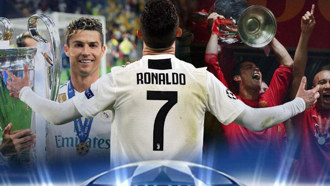 Ronaldo là một huyền thoại sống tại Champions League với 5 lần đăng quang cùng vô số kỷ lục