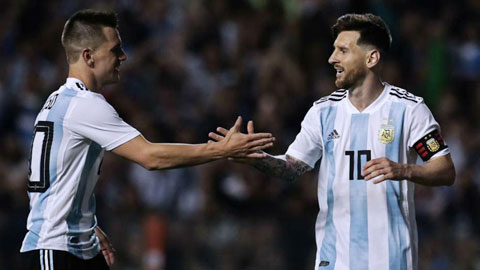 Lo Celso (trái) và Messi là hai trong nhiều ngôi sao xuất thân ở thành phố Rosario