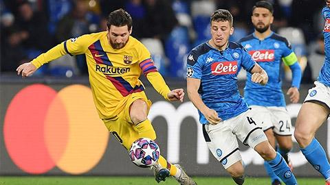Trực tiếp Barca vs Napoli, 02h00 ngày 9/8