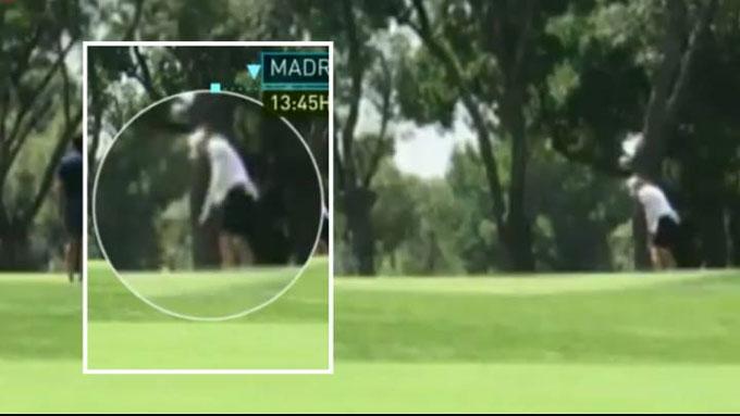Hình ảnh Bale đi chơi golf được kênh truyền hình của Tây Ban Nha ghi lại