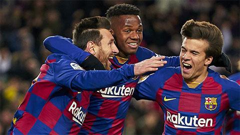 Barca bất bại suốt 35 trận sân nhà tại Champions League