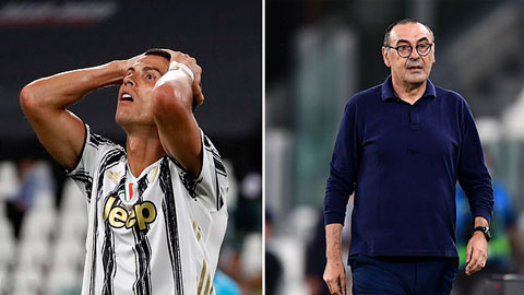Ronaldo và Sarri phản ứng ra sao sau thất bại của Juventus?