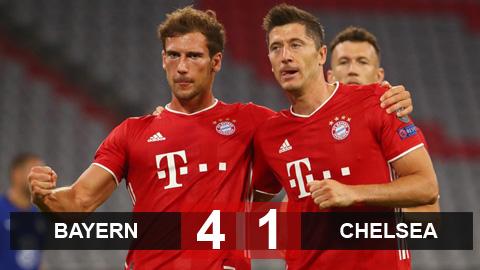 Kết quả Bayern 4-1 Chelsea: Bayern hẹn Barca ở tứ kết