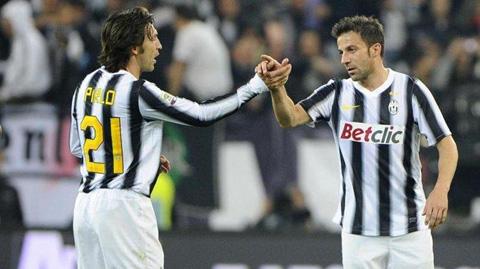 Del Piero tin đồng đội cũ Pirlo sẽ thành công tại Juventus