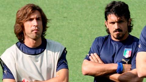Gattuso trù ẻo Pirlo trong ngày lên làm HLV Juventus