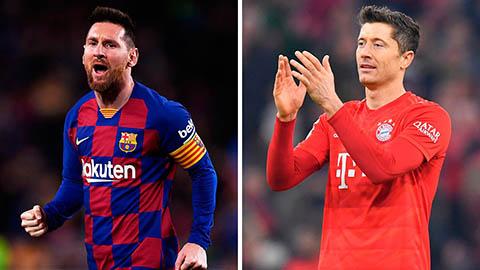 Champions League: Ứng viên vô địch rơi rụng, chờ đại chiến Messi - Lewandowski