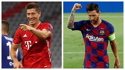 Lewandowski 'đỉnh nhất' đối đầu Messi 'kém chút xíu'