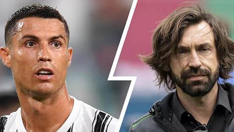"""Ronaldo """"tẽn tò"""" trong lần đầu đối mặt với Pirlo"""